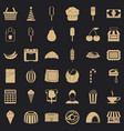 dessert icons set simple style vector image vector image