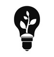 eco bulb icon simple style vector image vector image