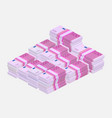 euros money stack vector image vector image