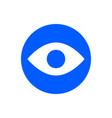 eye glyph icon vector image