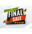 final sale discount promotional concept template vector image vector image