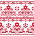 floral folk art seamless textile pattern vector image vector image