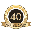 Forty Year Anniversary Badge vector image vector image
