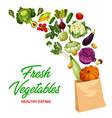 fresh vegetables market healthy eating banner vector image vector image