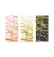 golden marble imitation backgrounds set abstract vector image
