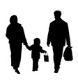 happy family walking with shopping bags vector image