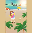 happy kids having fun on beach vector image