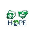 health hope template set vector image