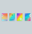 holographic background set iridescent foil vector image vector image