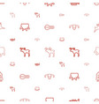 horn icons pattern seamless white background vector image vector image