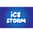 ice storm text 3d blue white concept design logo vector image vector image