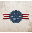 Independence Day 4th of July greeting Tag vector image vector image
