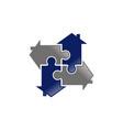 jigsaw home logo design template vector image vector image