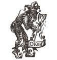 joker logo design template clown vector image