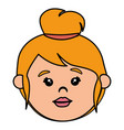 little girl head icon vector image