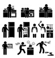 man cooking kitchen using washing equipment stick vector image vector image