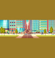 modern city street life cartoon concept vector image