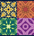 moroccan seamless patterns vector image