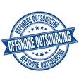 offshore outsourcing round grunge ribbon stamp vector image vector image