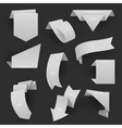 Origami material style website ribbons collection vector image