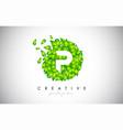 p green leaf logo design eco logo with multiple vector image
