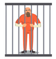 prisoner man in pokey outlaw robber vector image