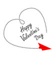 red flying origami paper plane big dash heart in vector image