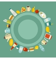 Round food frame vector image