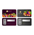 scratch cards with vegetables bright vector image
