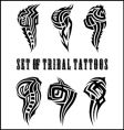 set of tribal tattoos vector image vector image