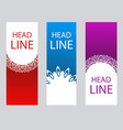 Set vertical abstract banners in oriental style
