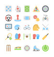 sports and games flat colored icons 2 vector image vector image
