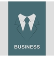 Suit with tie abstract isolated vector image vector image