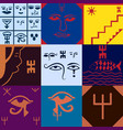 the moroccan mural decorative design art symbols vector image