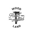 vintage hand drawn woodworks logo and emblem wood vector image vector image