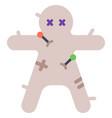 voodoo doll flat vector image