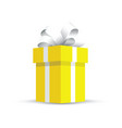 yellow present gift vector image