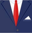 fragment of a man suit vector image