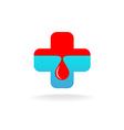 Blood donation symbol vector image