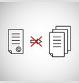 thin line copyright symbol like prohibit copying vector image