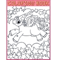 Coloring book page vector image