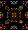 abstract embroidery vector image vector image
