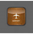 Airport application icons vector image vector image