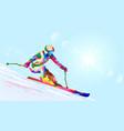alpine skier vector image