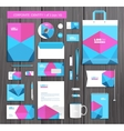 artistic corporate identity template vector image vector image