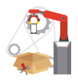 assembly line vector image