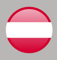 austria flag official colors and proportion vector image