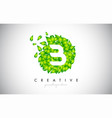 b green leaf logo design eco logo with multiple vector image vector image