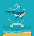 banner with big hand drawn fish and inscriptions vector image vector image