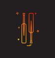 bat bats cricket icon design vector image
